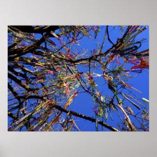 árbol de gotas del carnaval impresiones