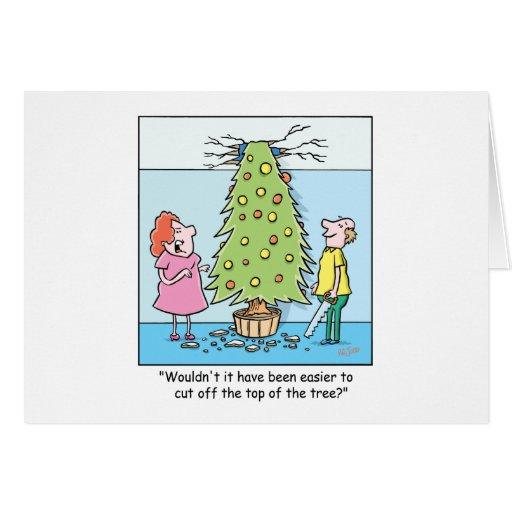 Árbol de gran tamaño del dibujo animado del tarjeta de felicitación