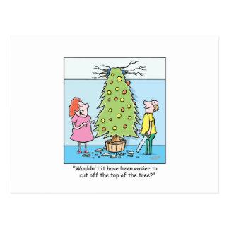 Árbol de gran tamaño del dibujo animado del tarjetas postales