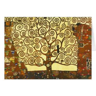 Árbol de Gustavo Klimt de la tarjeta de nota de la