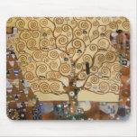 Árbol de Gustavo Klimt de la vida Alfombrillas De Ratones
