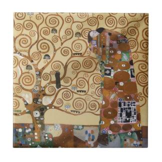 Árbol de Gustavo Klimt de la vida Azulejo Cuadrado Pequeño