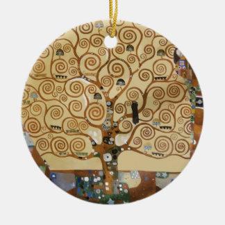 Árbol de Gustavo Klimt de la vida Adorno Redondo De Cerámica