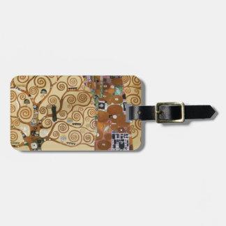 Árbol de Gustavo Klimt de la vida Etiqueta Para Maleta