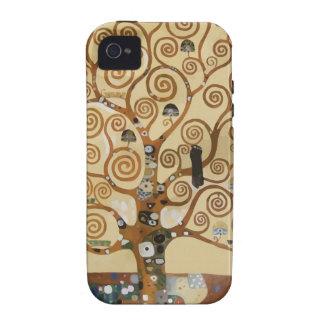 Árbol de Gustavo Klimt de la vida Vibe iPhone 4 Carcasas