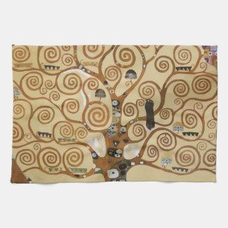 Árbol de Gustavo Klimt de la vida Toalla De Cocina