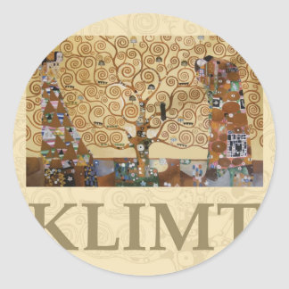 Árbol de Gustavo Klimt de la vida Etiqueta