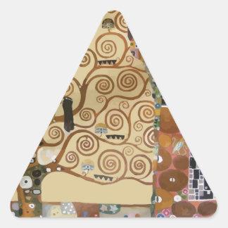 Árbol de Gustavo Klimt de la vida Calcomanías Trianguloes