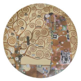 Árbol de Gustavo Klimt de la vida Plato De Cena