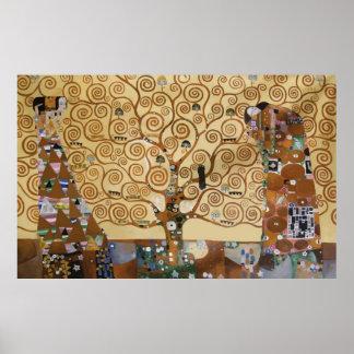 Árbol de Gustavo Klimt de la vida Póster