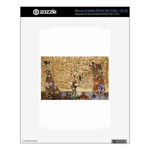 Árbol de Gustavo Klimt de la vida Calcomanía Para NOOK