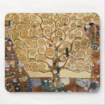 Árbol de Gustavo Klimt de la vida Tapetes De Ratones