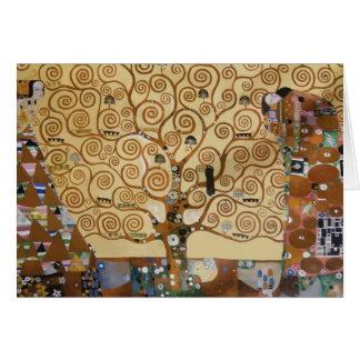 Árbol de Gustavo Klimt de la vida Tarjeta De Felicitación