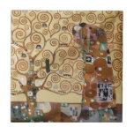 Árbol de Gustavo Klimt de la vida Teja Ceramica