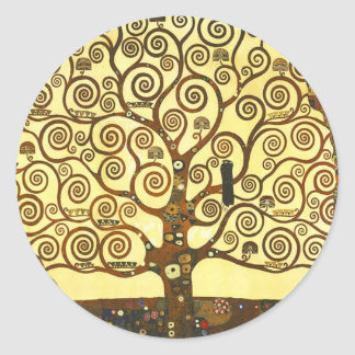 Árbol de Gustavo Klimt de los pegatinas de la vida
