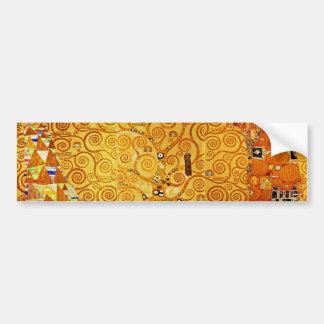 Árbol de Gustavo Klimt del arte Nouveau de la vida Pegatina De Parachoque