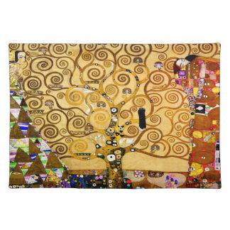 Árbol de Gustavo Klimt del arte Nouveau de la vida Mantel Individual
