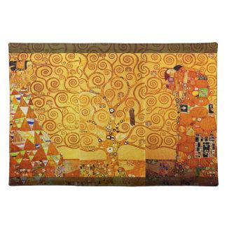 Árbol de Gustavo Klimt del arte Nouveau de la vida Manteles Individuales