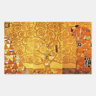 Árbol de Gustavo Klimt del arte Nouveau de la vida Rectangular Altavoz