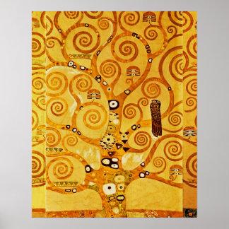 Árbol de Gustavo Klimt del arte Nouveau de la vida Póster