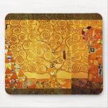 Árbol de Gustavo Klimt del arte Nouveau de la vida Alfombrilla De Ratón