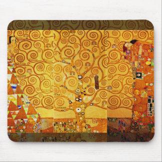 Árbol de Gustavo Klimt del arte Nouveau de la vida Alfombrilla De Ratones