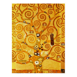 Árbol de Gustavo Klimt del arte Nouveau de la vida Tarjetas Postales