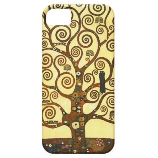 Árbol de Gustavo Klimt del caso del iPhone de la v iPhone 5 Case-Mate Fundas