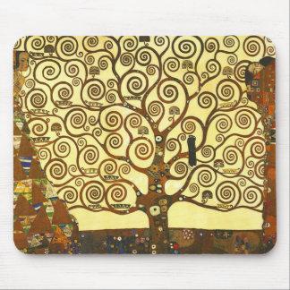 Árbol de Gustavo Klimt del cojín de ratón de la vi Tapetes De Raton