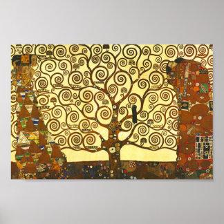 Árbol de Gustavo Klimt del poster de la vida
