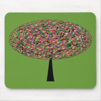 Árbol de haba de jalea mouse pad