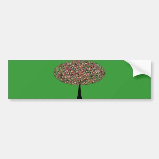 Árbol de haba de jalea pegatina para auto