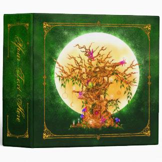 Árbol de hadas encantado de la fantasía carpeta de