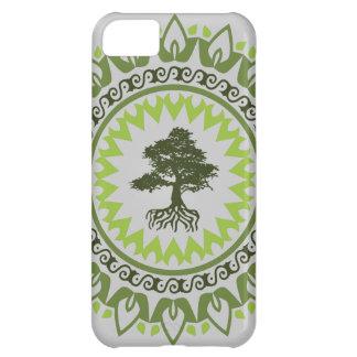 Árbol de hoja perenne del árbol de los bonsais del funda para iPhone 5C