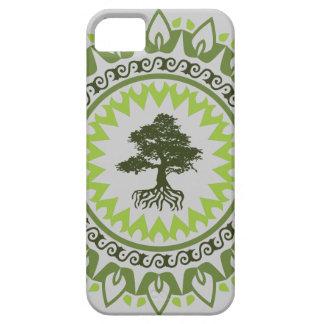 Árbol de hoja perenne del árbol de los bonsais del funda para iPhone SE/5/5s