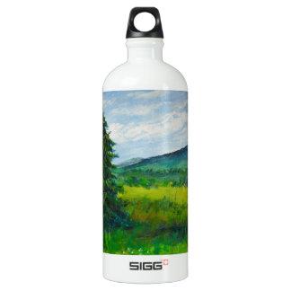 Árbol de hoja perenne del campo, pintura de