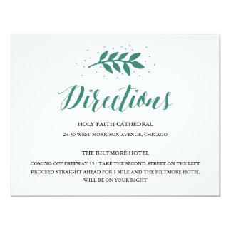 """Árbol de hoja perenne - direcciones invitación 4.25"""" x 5.5"""""""