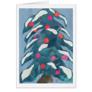 Árbol de hoja perenne tarjetas