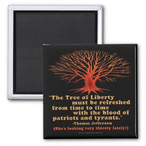 Árbol de Jefferson de la libertad Imán De Nevera