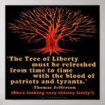 Árbol de Jefferson de la libertad Impresiones