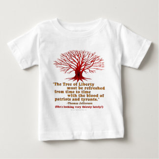 Árbol de Jefferson de la libertad Playera Para Bebé