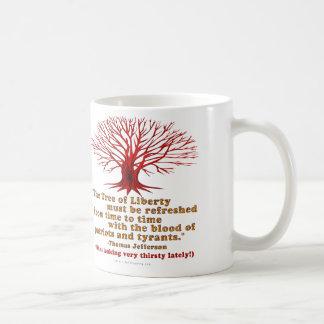 Árbol de Jefferson de la libertad Taza
