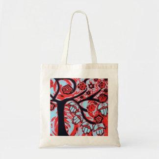 Árbol de Judaica Hamsa del bolso del rojo de la vi