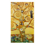 Árbol de Klimt de la vida Plantilla De Tarjeta De Visita