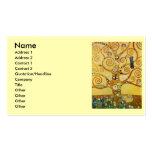 Árbol de Klimt de la vida Tarjeta De Visita