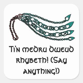 Árbol de Knotwork del Celtic del arrastramiento Pegatina Cuadrada