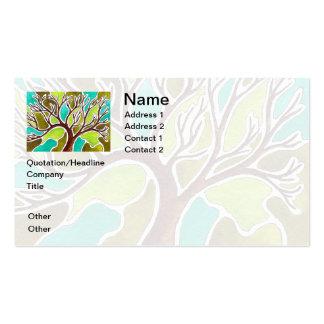 Árbol de la acuarela y de la pluma y de la tinta tarjetas de visita