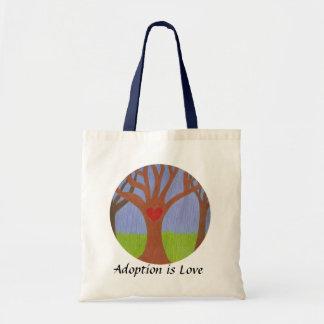Árbol de la adopción bolsa tela barata