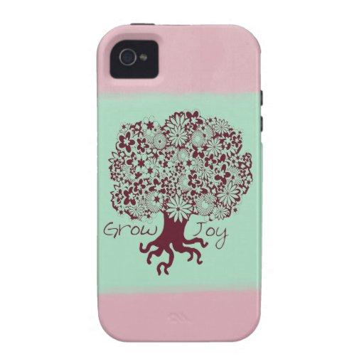 Árbol de la alegría vibe iPhone 4 funda