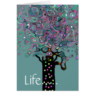 Árbol de la ayuda tarjeta de felicitación